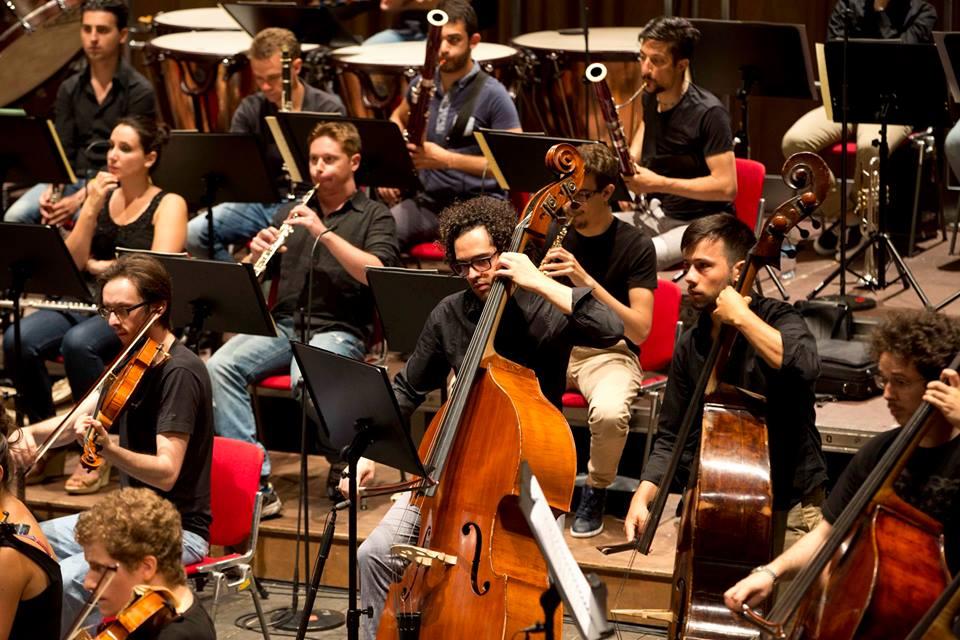 Michele Bonfante con l'orchestra